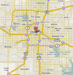 dumpster service map, Midwest City, OK
