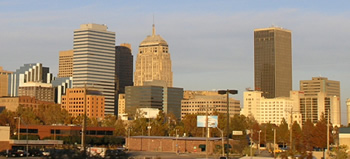view of downtown in Oklahoma City, OK